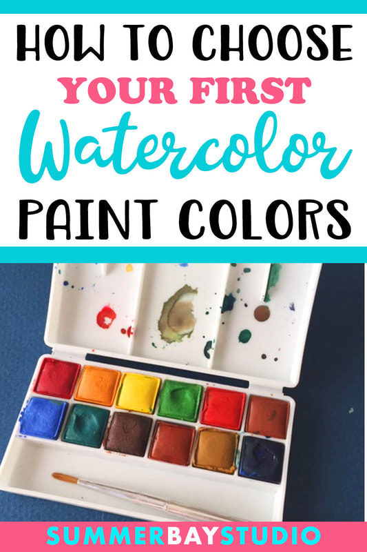 How to choose your first watercolor paint colors.