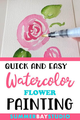 Quick and Easy Watercolor Flower Painting