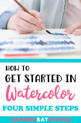 How to get started in Watercolors in four simple steps.