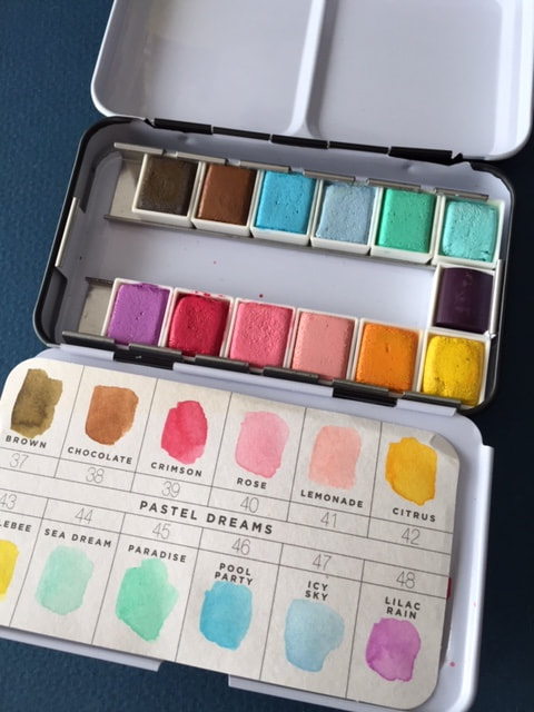 Prima Marketing Pastel Dreams watercolor palette.