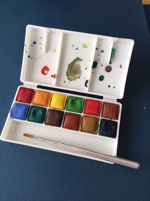 Field watercolor palette by Winsor and Newton.