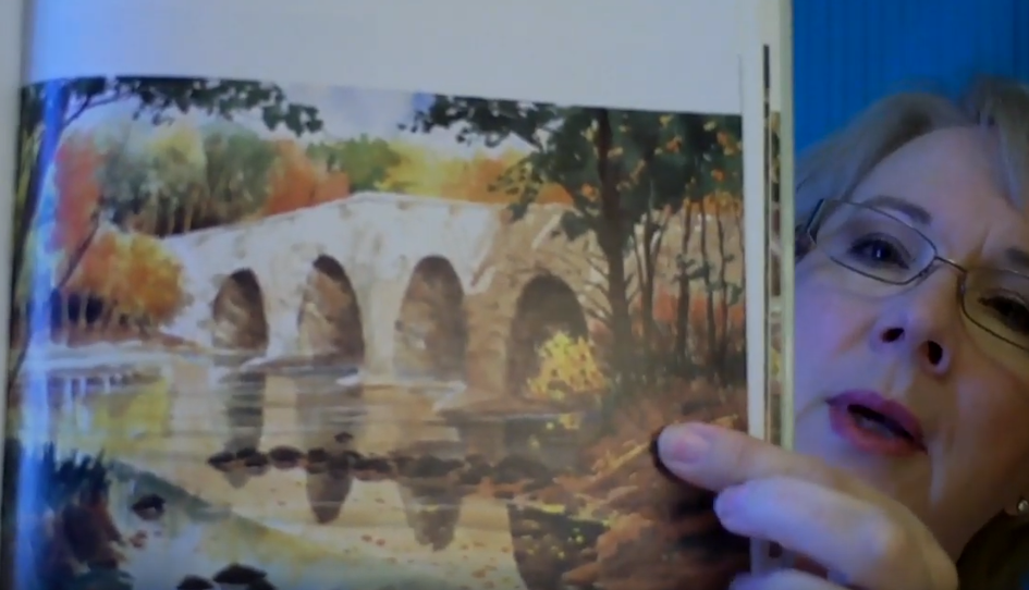 Watercolour painting using warm colors.
