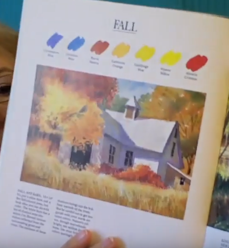 Watercolour painting using warm fall colors.